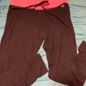 Victoria's Secret Pink leggings w/pink waistband